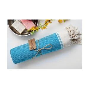 Ręcznik hamam Jacquard Turquoise, 100x180 cm