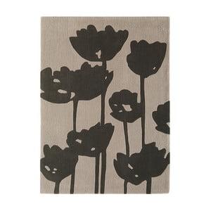 Ciemnoszary dywan Asiatic Carpets Harlequin Florist, 170x120 cm
