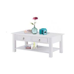 Biały stolik z drewna sosnowego Støraa Inda