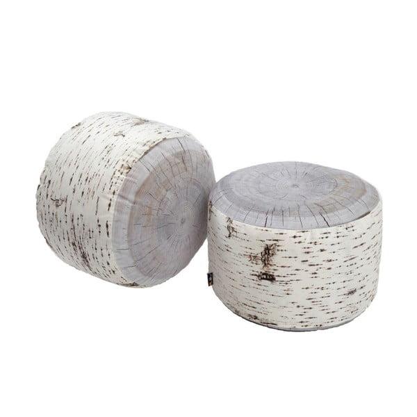 Puf zewnętrzny Birch Tree Stump, 60 cm