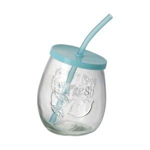 Turkusowa szklanka ze słomką Parlane Straw Tyrq