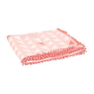 Koc Triangles Pink, 180x150 cm