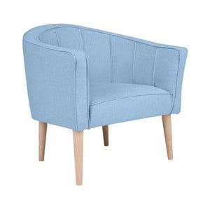Jasnoniebieski fotel Kooko Home Piri