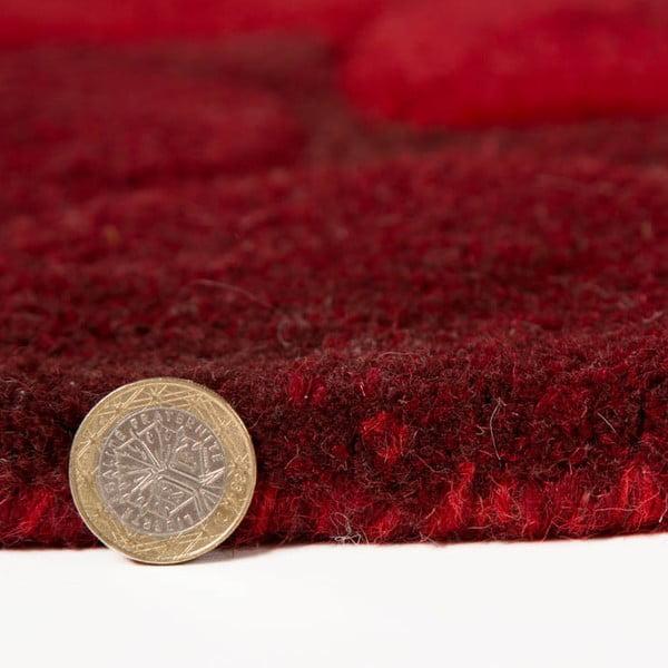 Dywan wełniany Eden, 150x240 cm, czerwony