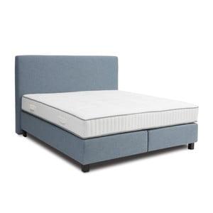 Jasnoniebieskie łóżko kontynentalne Revor Roma, 140x200cm