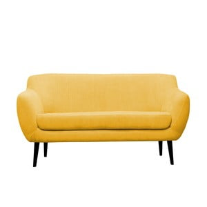 Żółta sofa trzyosobowa Mazzini Sofas Toscane