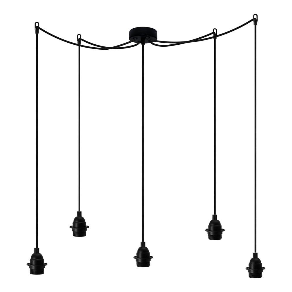 Czarna pięcioramienna lampa wisząca Bulb Attack Uno Primary