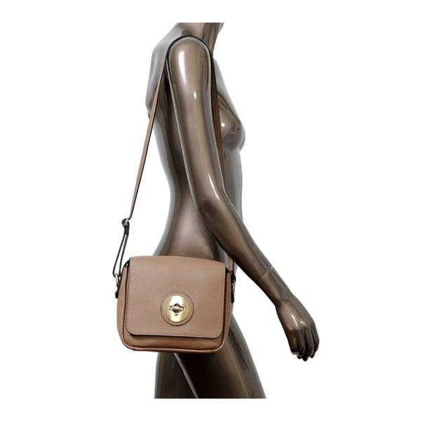 Beżowa torebka skórzana Andrea Cardone Alessio