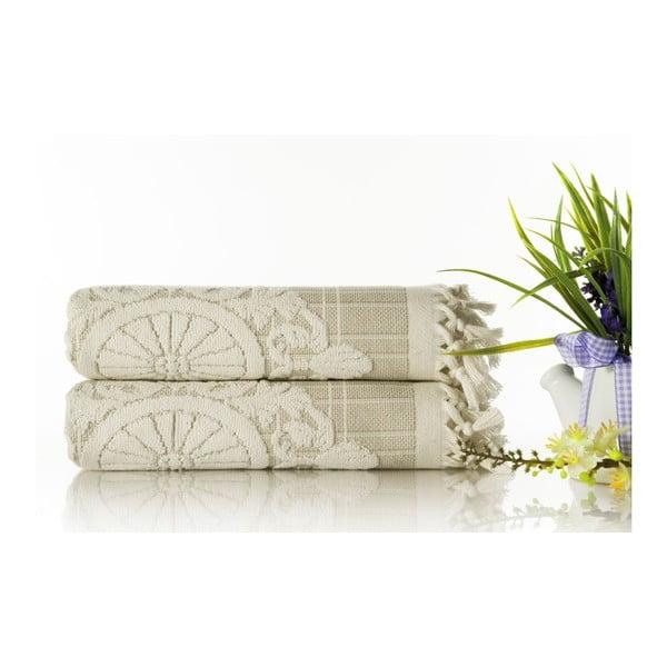 Zestaw 2 ręczników Eftelya Salmon, 50x90 cm