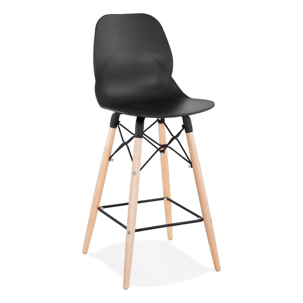 Czarny hoker Kokoon Marcel Mini, wys. siedziska 68 cm