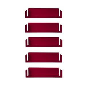 Niewidzialne półki Judd U, czerwone, 5 sztuk