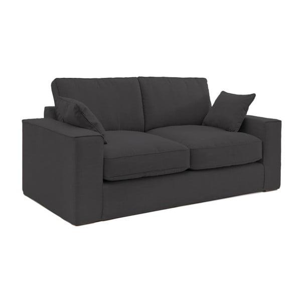 Antracytowa sofa trzyosobowa Vivonita Jane