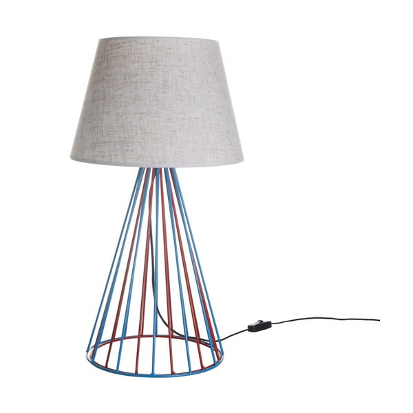 Lampa stołowa Wiry White/Blue/Red