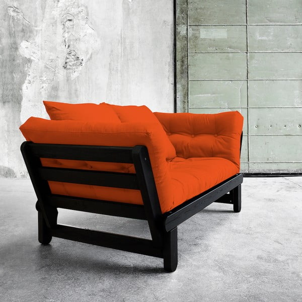 Sofa rozkładana Karup Beat Black/Orange