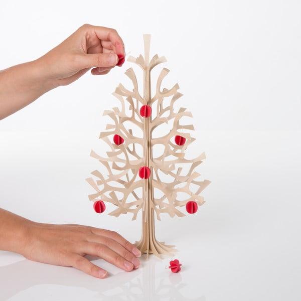 Składana dekoracja Lovi Spruce Minibaubles Bright Red