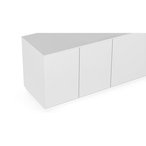 Matowa biała szafka pod TV TemaHome Join, 200x57 cm