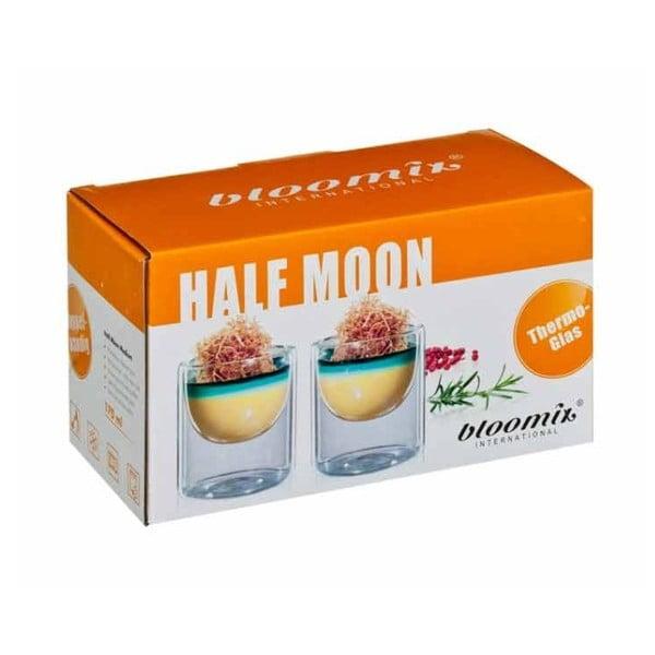 Zestaw 2   średnich szklanek bloomix Half Moon