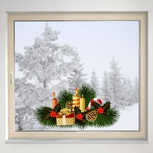 Elektrostatyczna naklejka Stroik świąteczny