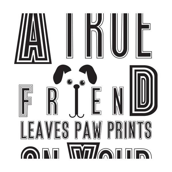 Plakat Dog Friend, 30x40 cm