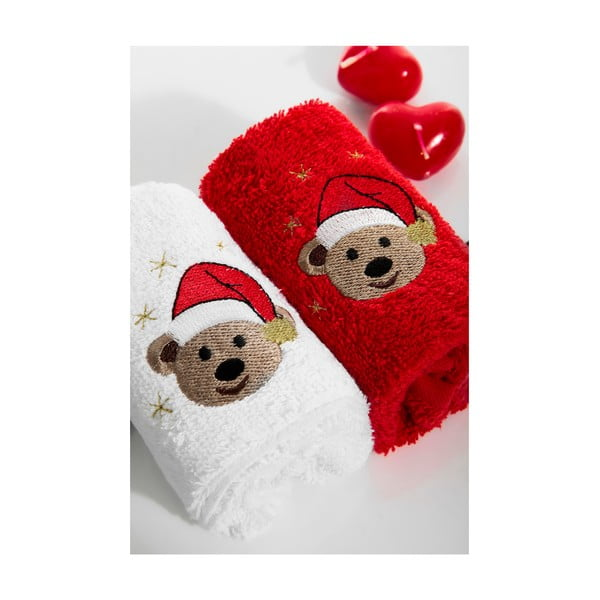 Zestaw 2 ręczników Bears, 30x50 cm