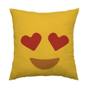 Poduszka Emoji Hearts, 40x40 cm