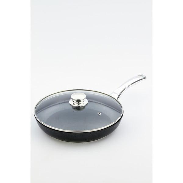 Patelnia z pokrywką i rączką w kolorze srebra Bisetti Black Diamond, Ø 28 cm