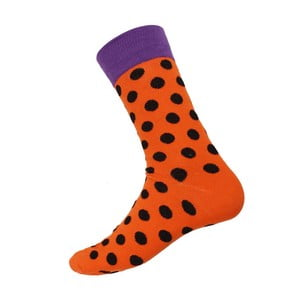 Skarpetki Big Dots Orange, rozm. 40-44
