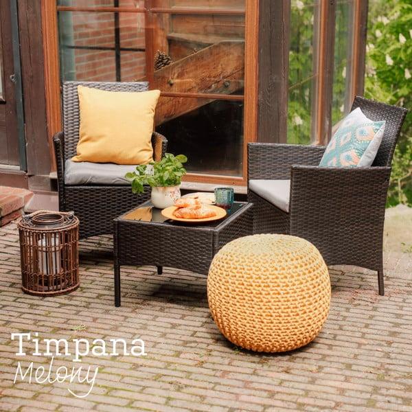 Zestaw mebli ogrodowych ze sztucznego rattanu Timpana Melony