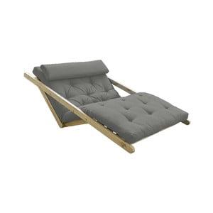 Sofa rozkładana z szarym pokryciem Karup Design Figo Natural/Grey
