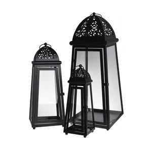Zestaw 3 lampionów Romantic Black
