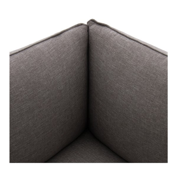 Szary narożny moduł sofy lewostronny Vivonita Cube