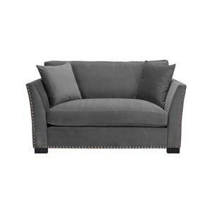 Szara sofa 2-osobowa The Classic Living Pierre