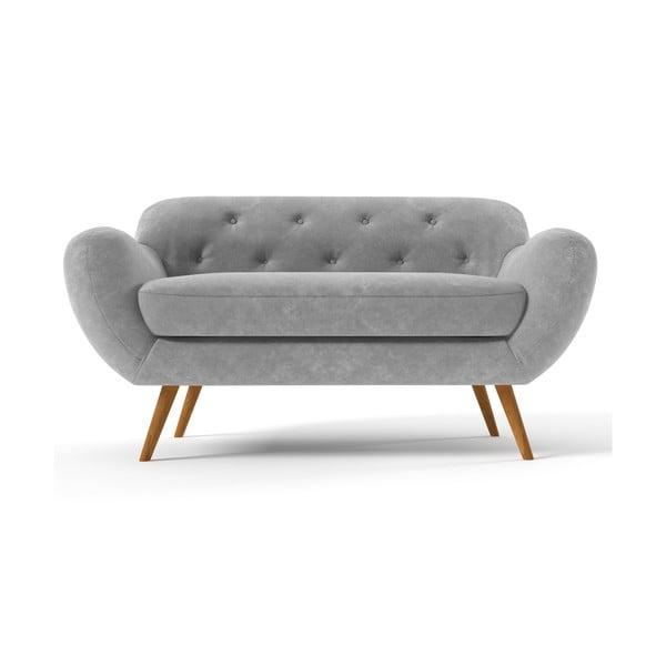 Szara   sofa dwuosobowa Wintech Zefir