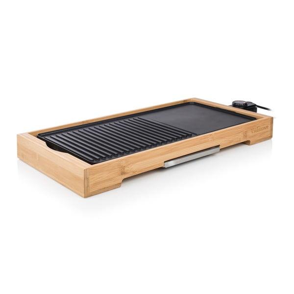 Bambusowy elektryczny grilll stołowy Tristar, moc 2200W