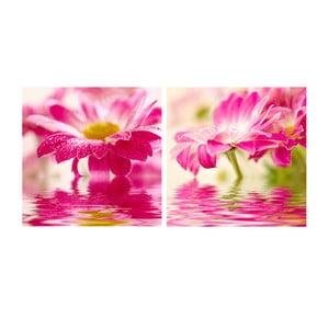 Zestaw obrazów na szkle Kwiat, 30x30 cm, 2 szt