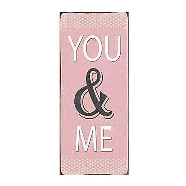 Blaszana tablica You&Me 30x13 cm