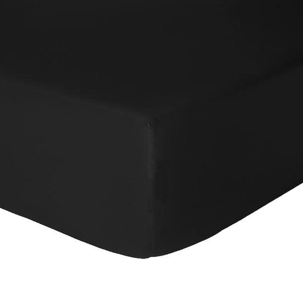 Prześcieradło z gumką Let's Home Black 160x200 cm