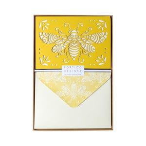 Zestaw   10 kart okolicznościowych Portico Designs FOIL Honeybee