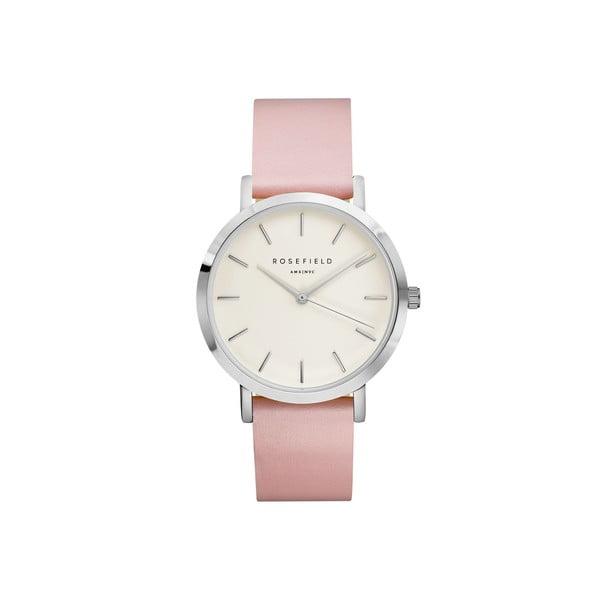 Zegarek damski Rosefield - The Gramercy, biały/różowy/srebrny
