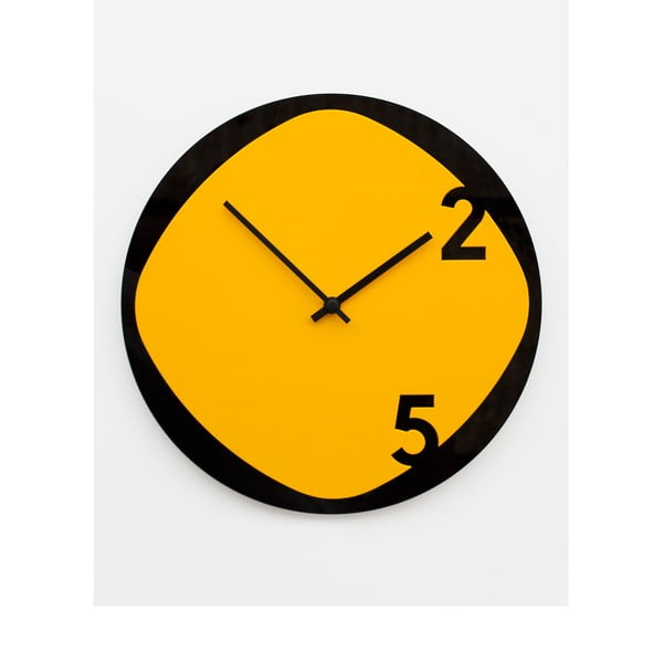Zegar Clock25 Yellow&Black