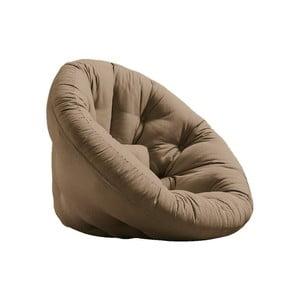 Rozkładany fotel z brązowym obiciem Karup Design Nido Mocca