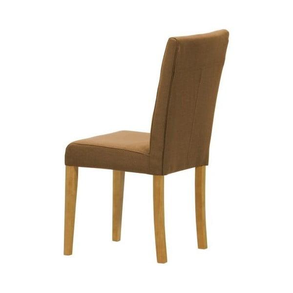 Komplet 2 krzeseł Monako Etna Brown, naturalne nóżki