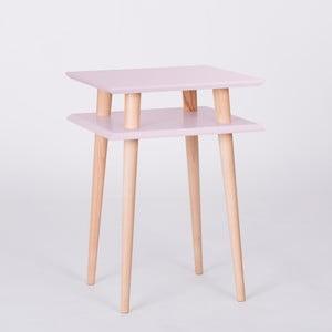 Różowy stolik Ragaba Square, 43x43 cm