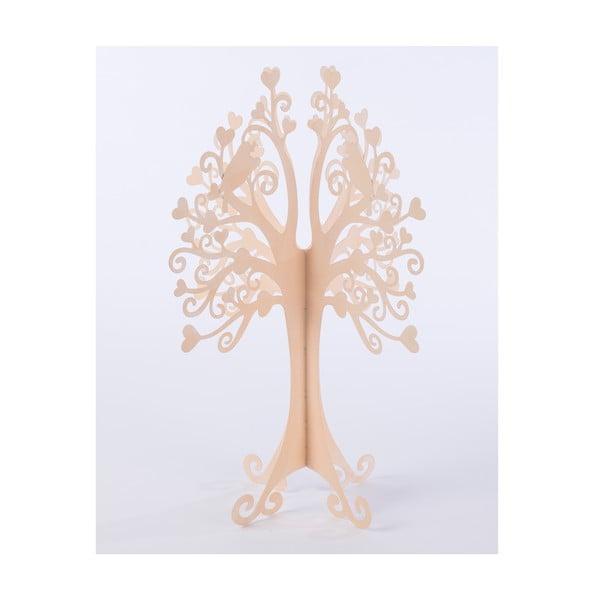 Metalowe drzewko dekoracyjne Tree 42 cm, pudrowe