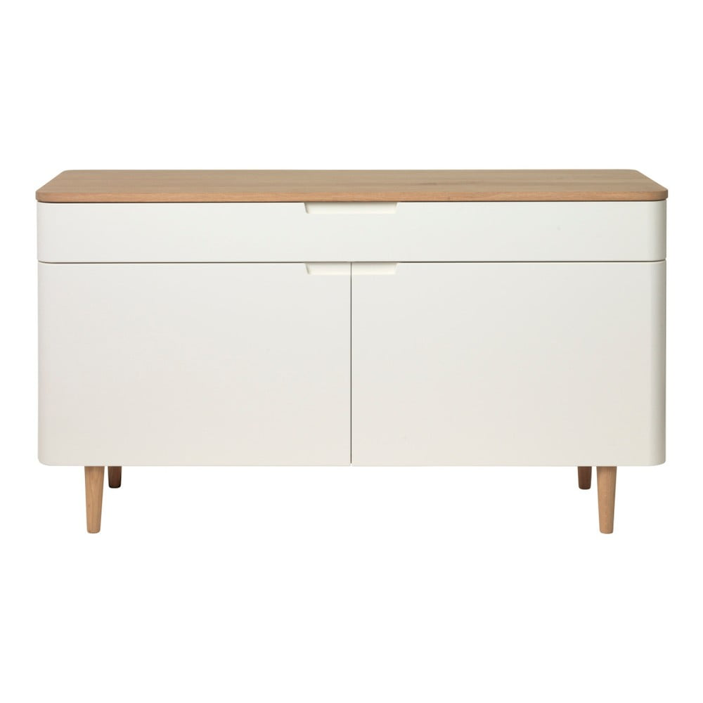 Niska komoda z drewna białego dębu Unique Furniture Amalfi