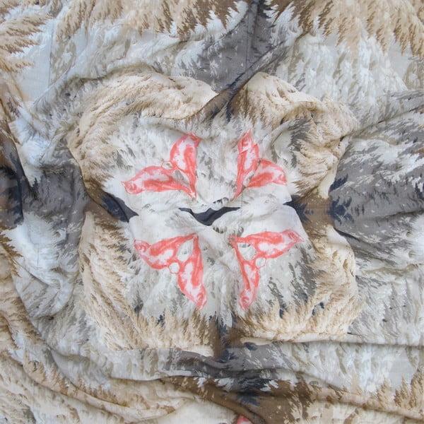 Wełniana chusta z dodatkiem kaszmiru Winx, 130x130 cm