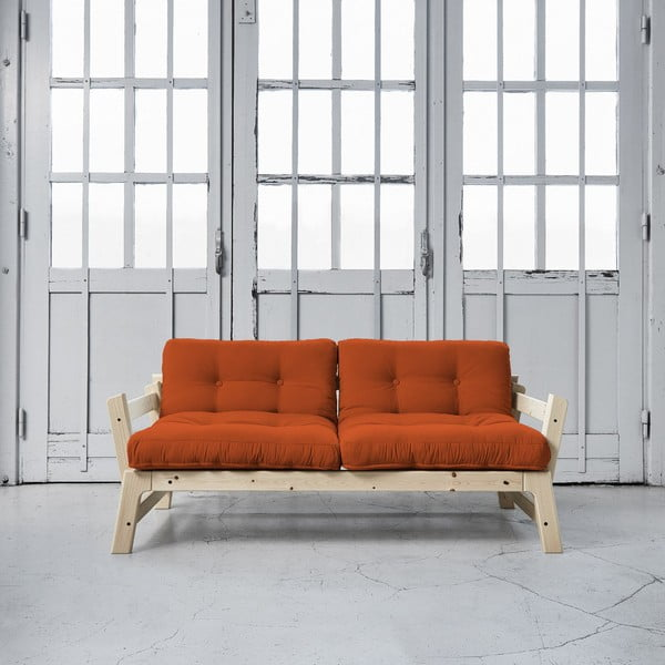 Sofa rozkładana Karup Step Natural/Orange