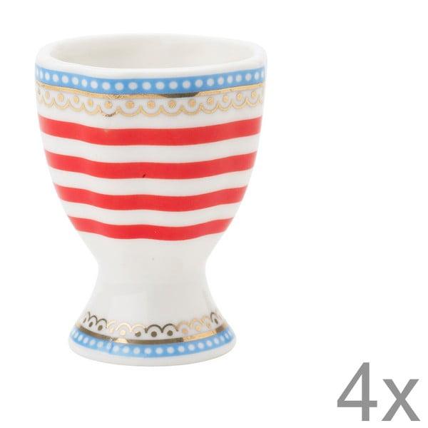 Porcelanowy kieliszek na jajko Happy Lisbeth Dahl, 4 szt.