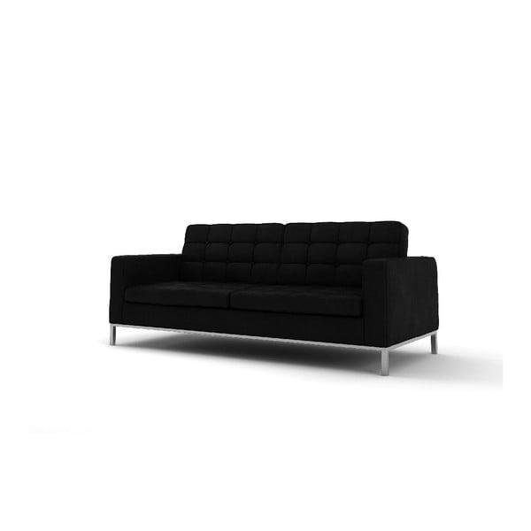 Trzyosobowa sofa Eagle, czarna
