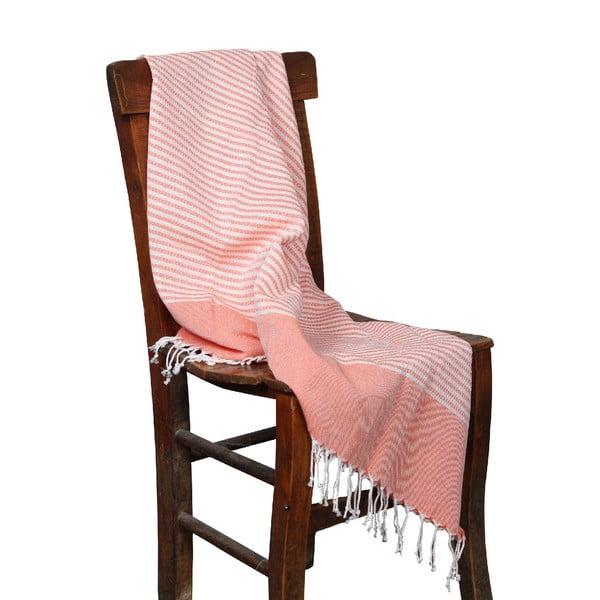 Pomarańczowy ręcznik hammam Hermes Orange, 90x190cm